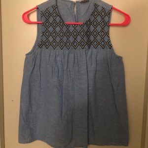 JCrew embroidered tank top